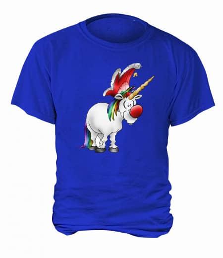 "T-Shirt ""Jeckes Einhorn"" - Herren Blau | XS"