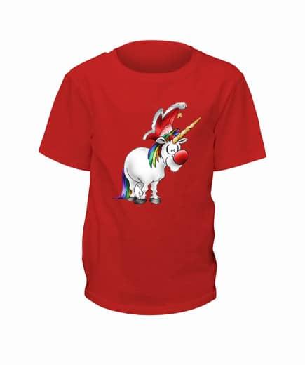 "T-Shirt ""Jeckes Einhorn"" - Kinder Rot | 90"