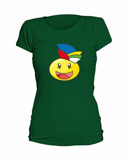 "T-Shirt Smilie ""Der Jecke"" - Damen Grün | XS"