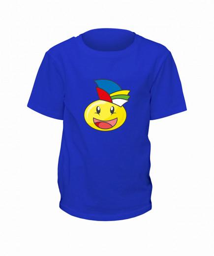 "T-Shirt Smilie ""Der Jecke"" - Kinder Blau | 90"