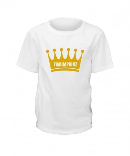 "T-Shirt ""Traumprinz"" - Kinder Weiß | 90"