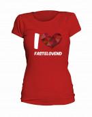 "T-Shirt ""I Love Fastelovend"" - Damen"