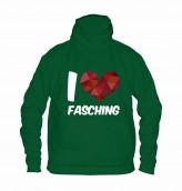 """Hoodie """"I Love Fasching"""" - Kinder"""