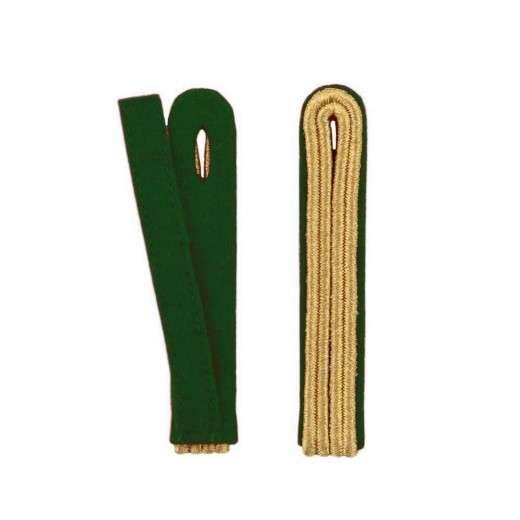 2-streifige Schulterstücke in gold grün