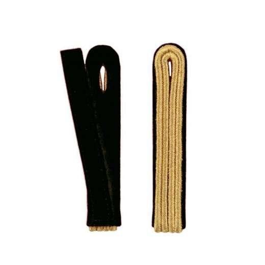 2-streifige Schulterstücke in gold schwarz