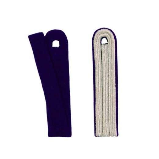 3-streifige Schulterstücke in silber blau