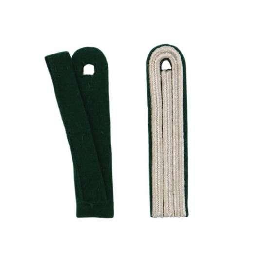3-streifige Schulterstücke in silber grün