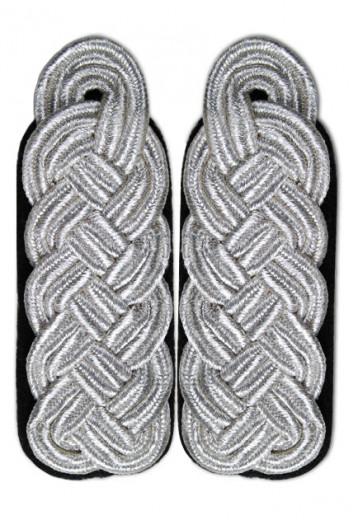 Schultergeflecht - Majorsgeflecht silber schwarz