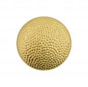 Uniformknopf 16 mm gekörnt vergoldet